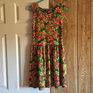 Planet Gold Floral Mini Dress - Sz S